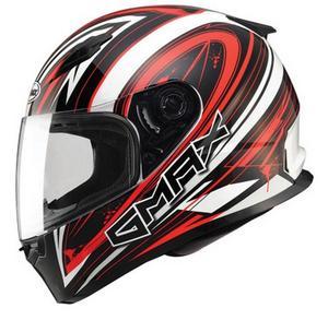 G-Max FF49 Warp Helmet Warp White/Red (Red, X-Large)