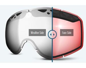 Triple 9 Optics 37-2564 Lens for Switch Snow Goggles - Chrome/Rose