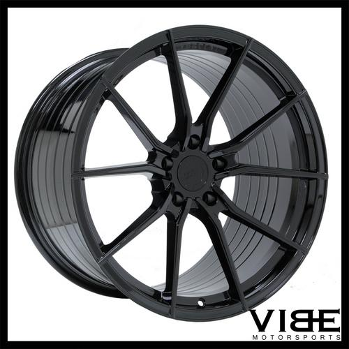 "20"" VERTINI RF1.2 GLOSS BLACK CONCAVE WHEELS RIMS FITS BMW F12 F13 M6"