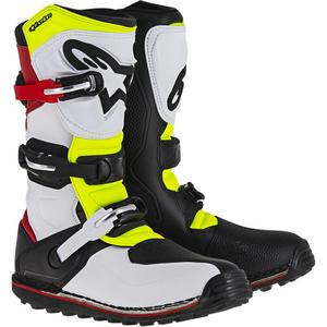 Alpinestars Tech-T Boots White/Red/Yellow/Black (White, 11)