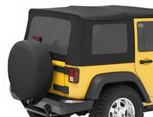 Bestop Replacement Window Set, Tinted - Jeep 2007-2010 Wrangler Unlimited
