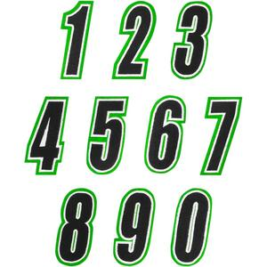 American Kargo 3550-0263 Number Patch - #6 - Green/Black
