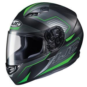 HJC CS-R3 Trion Helmet Semi-Flat Green (MC-4SF) (Black, Large)