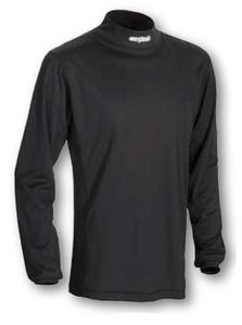Cortech Journey Coolmax Long Sleeve Mock Neck Shirt (Black, X-Small)