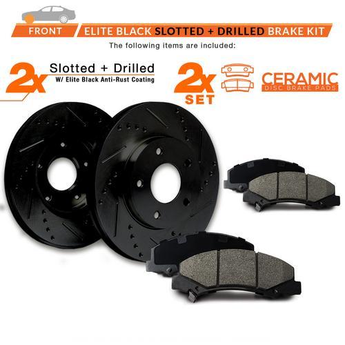 KT045131-9 Max Brakes Front Premium XDS Rotors and Ceramic Pads Brake Kit