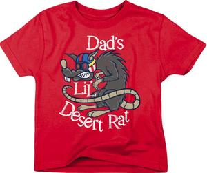 Smooth Dads Lil Desert Rat Youth T-Shirt (Red, Small)