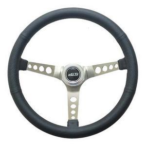 GT Performance 15 in Diameter Brushed Mustang Steering Wheel P/N 35-5445