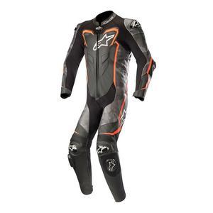 Alpinestars GP Plus Camo One-Piece Leather Suit Black Camo/Red Fluo (Black, 50)