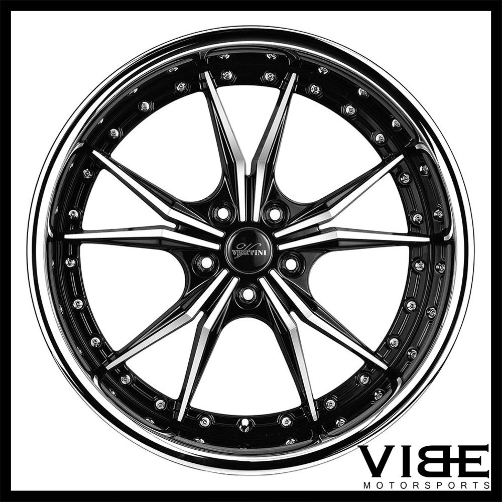 "19"" VERTINI DARK KNIGHT MACHINED DEEP LIP WHEELS RIMS FITS INFINITI Q60 COUPE"