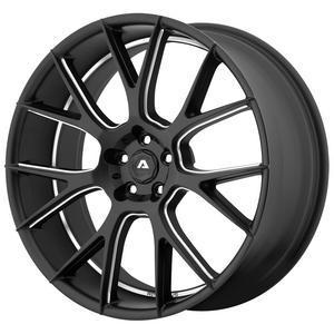 "Adventus AVX-7 22x10 5x120 +20mm Black/Milled Wheel Rim 22"" Inch"