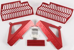 Unabiker Radiator Guards Red For Honda CRF150R 07-17 HF150R-R