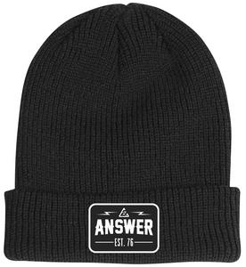 Answer Flash Beanie (Black, OSFM)