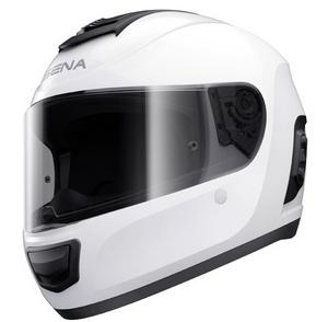 Sena Adult Momentum Bluetooth Standard Motorcycle Helmet Gloss White 2XL