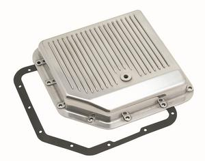 Mr. Gasket 9791G Automatic Transmission Oil Pan TH350 Polished Alum. Finned