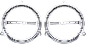 Covingtons Chrome Dimple Speaker Grill For Harley Davidson FLH 14-17 C0051-C