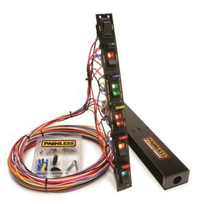Painless Wiring 50506 Fused Dragster Vertical 6 Switch Panel