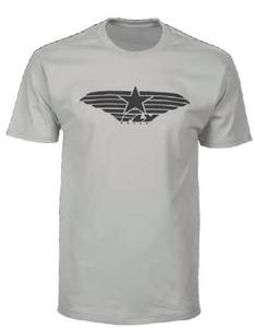 Fly Racing Fly Street Standard Issue T-Shirt (Silver, Small)