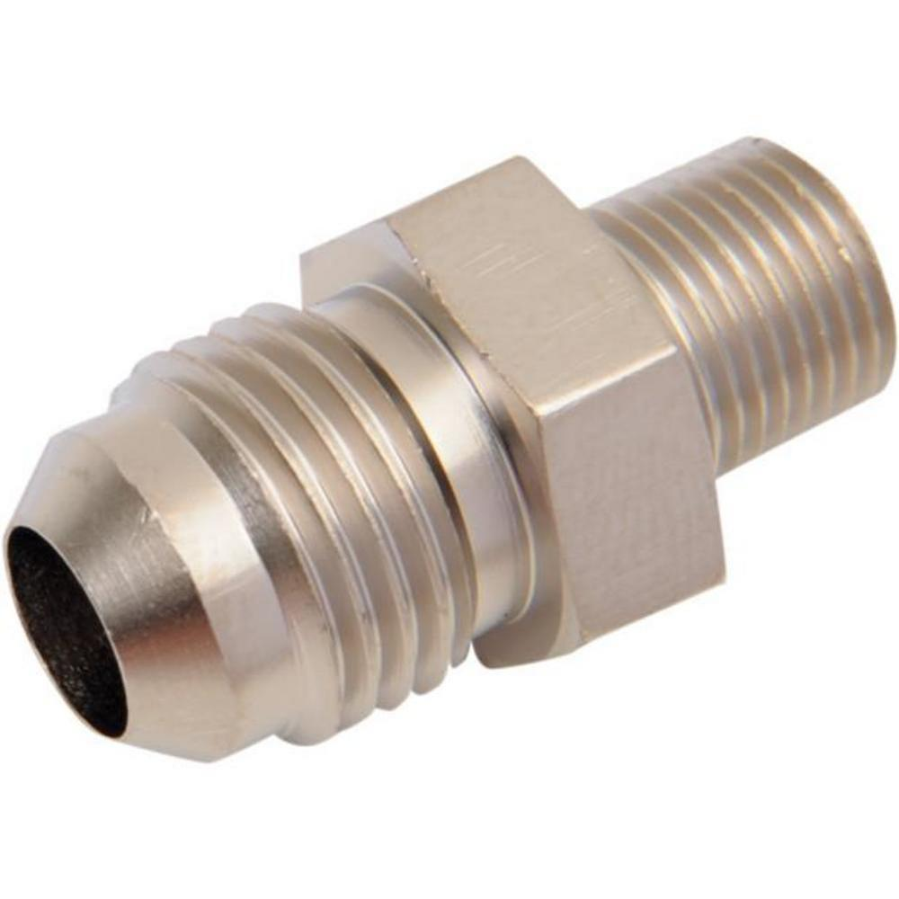 Russell R60451 -6 AN 1/8in. NPT Straight Flare to Pipe Adapter - Endura