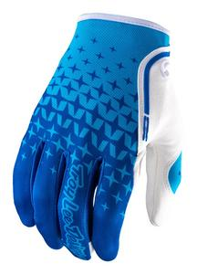 Troy Lee Designs 2017 XC Gloves Starburst Blue/Cyan Adult Size L