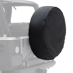 Smittybilt 772935 Spare Tire Cover Black Diamond 27-29 in Tire Dia. Small