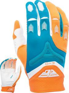 Fly Racing Evolution 2.0 Youth Gloves (2017) Orange/Dark Teal (Orange, 6)