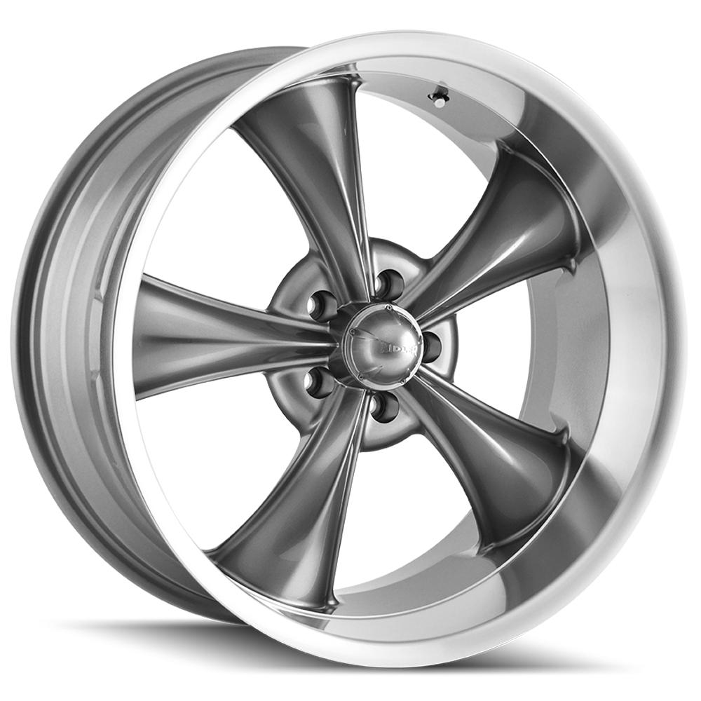 "Ridler 695 17x8 5x4.75"" +0mm Gunmetal Wheel Rim 17"" Inch"