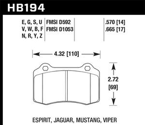 Hawk Performance HB194Z.570 Disc Brake Pad