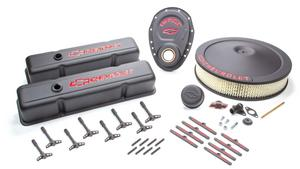 PROFORM SBC Chevy Logo Black Crinkle Engine Dress Up Kit P/N 141-758