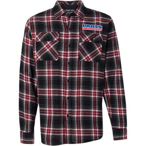 Throttle Threads Parts Unlimited Flannel Shirt Red Plaid (Red, Medium)