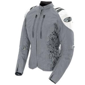 Joe Rocket Atomic 4.0 Textile Motorcycle Jacket Silver/White Womens Size S