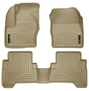 2013 Ford Escape Husky WeatherBeater Floor Mats All Weather Liners TAN Set