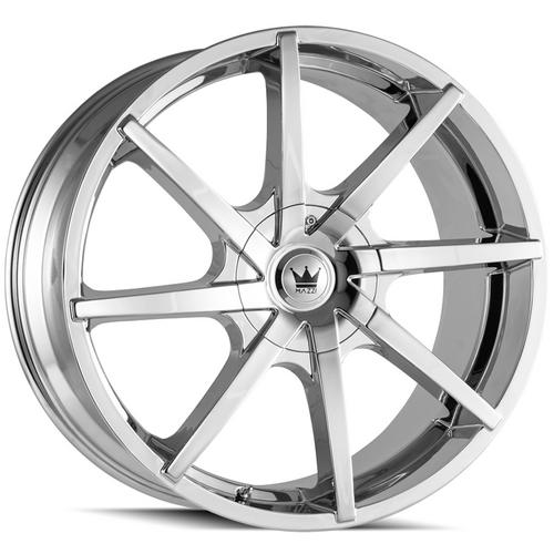 "Mazzi 369 Kickstand 20x8.5 5x108/5x4.5"" +35mm Chrome Wheel Rim 20"" Inch"