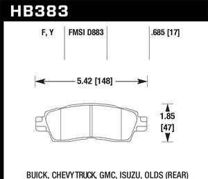 Hawk Performance HB383F.685 Disc Brake Pad