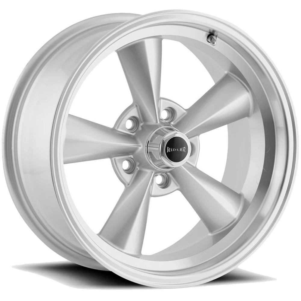 "Ridler 675 15x8 5x4.5"" -12mm Silver Wheel Rim 15"" Inch"