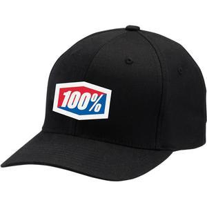 100% Flexfit Hat (Black, Large - X-Large)
