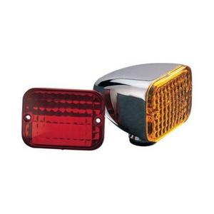 Drag Specialties 2040-0302 Replacement Lens for Rectangular Mini Twin Marker Light - Red