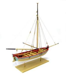 18th Century Longboat Wooden Ship Model Kit 1:48 Scale