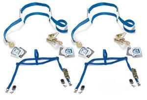 Mac's Tie-Downs Drag Pack Tie Down Strap Kit Black P/N 511390