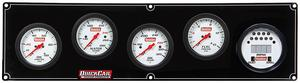 QUICKCAR RACING PRODUCTS White Face Gauge Panel Assembly P/N 61-7051