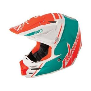 Fly Racing 73-46121 Mouthpiece for F2 Carbon 2014 Canard Helmet - White/Teal/Orange