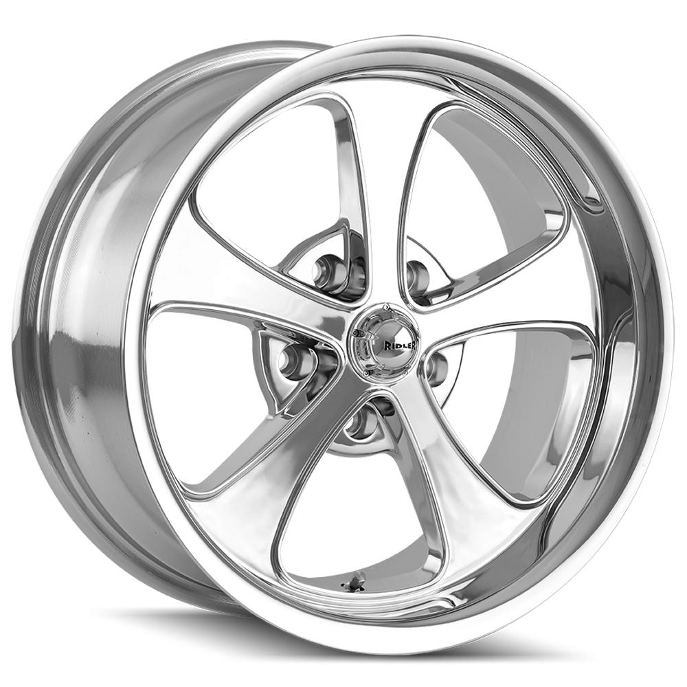 "Ridler 645 18x9.5 5x4.75"" +0mm Chrome Wheel Rim 18"" Inch"