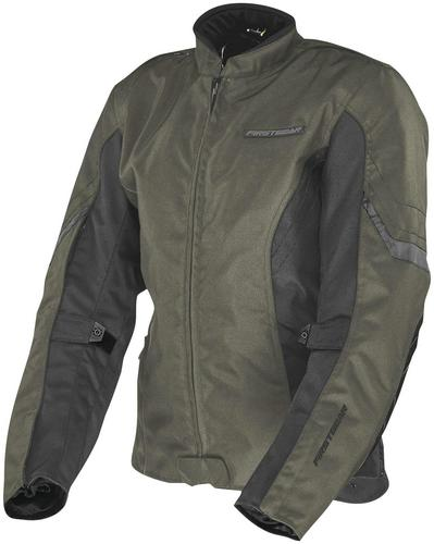 Firstgear Contour Womens Jacket Olive (Green, X-Large)