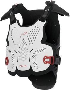 Alpinestars A-4 Chest Guard Protector White/Black/Red Mens Size XS/S