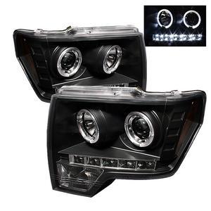 Spyder Auto 5010230 Halo LED Projector Headlights 09-10 F-150 Pickup