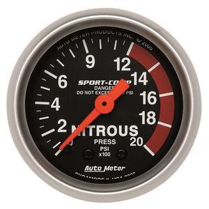 AutoMeter 3328 Sport-Comp Mechanical Nitrous Pressure Gauge