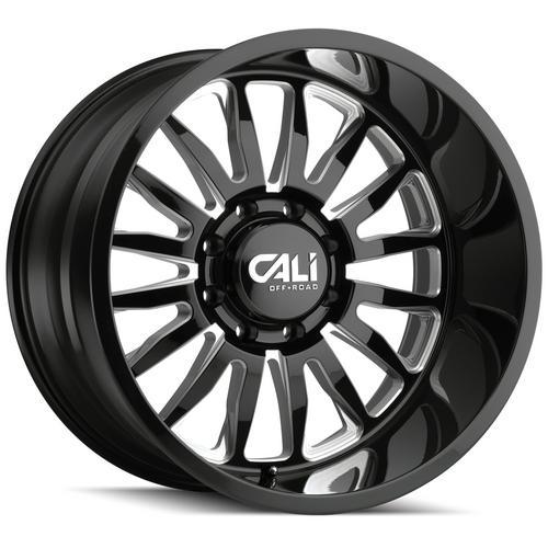 """4-Cali Off-Road 9110 Summit 20x10 8x170 -25mm Black/Milled Wheels Rims 20"""" Inch"""