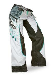 Fly Racing Kinetic Boot-Cut Girls Youth Pants Teal/White (White, 24)