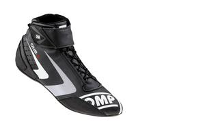 OMP Racing Black Size 10-1/2 One-S 2016 Mid-Top Driving Shoe P/N IC80707145