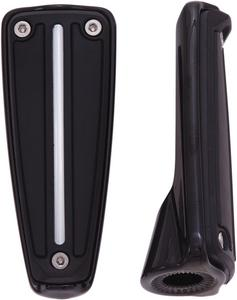 Ciro Black Rail Footpegs WithOUT Mounts For Harley Davidson Street Glide 61021