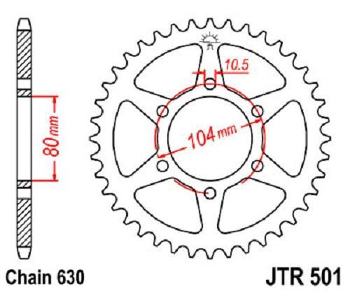 Jt Sprockets Steel Rear Sprocket 35t 630 Pitch Jtr501 35